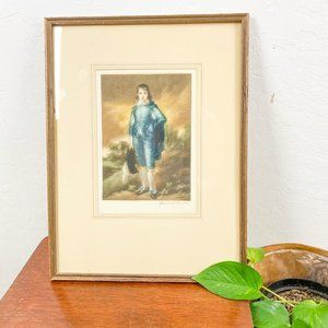 Vintage Art Midcentury Modern The Blue Boy